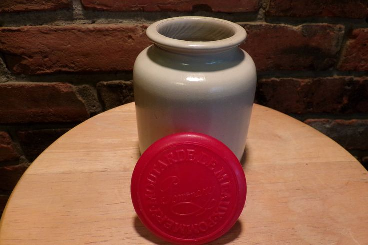 Vintage French Stoneware Pottery Moutarde De Meaux Pommery, French Musturd stone jar with lid, Vintage French stone jar by Morethebuckles on Etsy