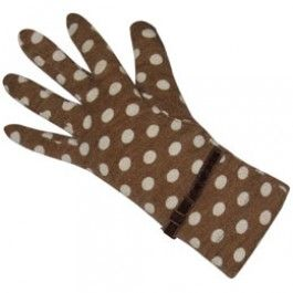 Taupe Spot Jersey Gloves
