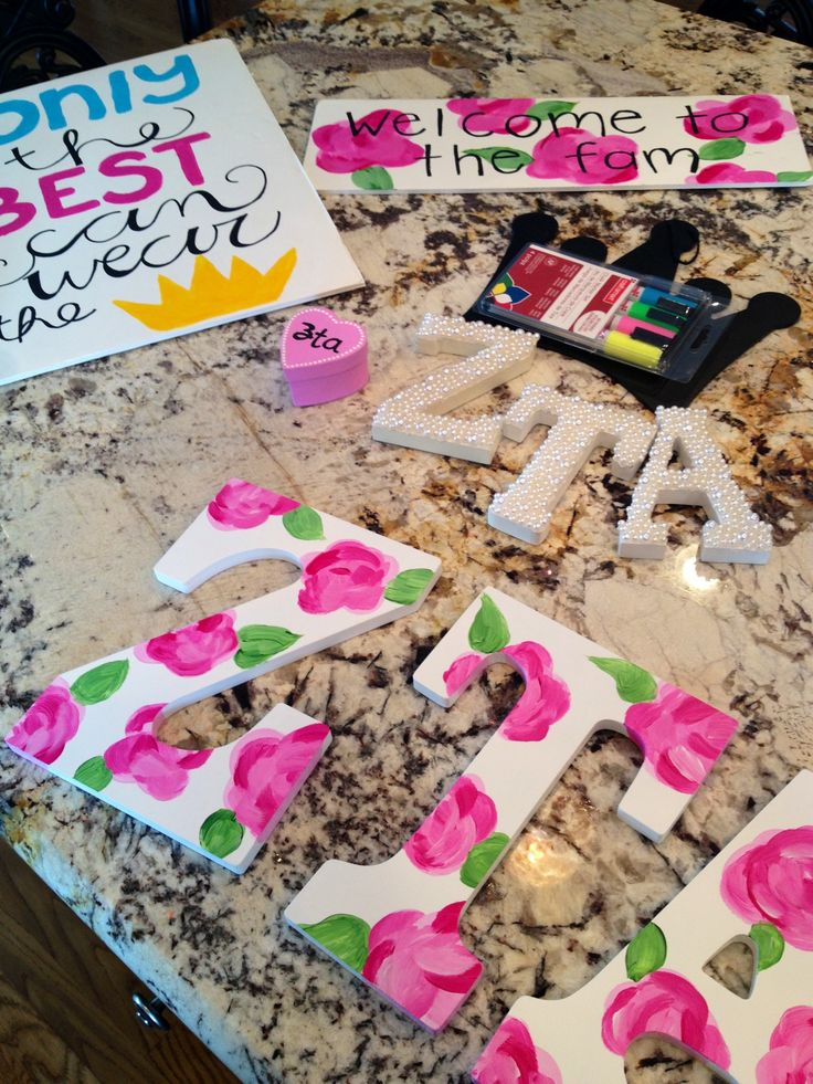 Sorority crafting! I love this idea!!! or you could spell out your name for your dorm room wall!!!