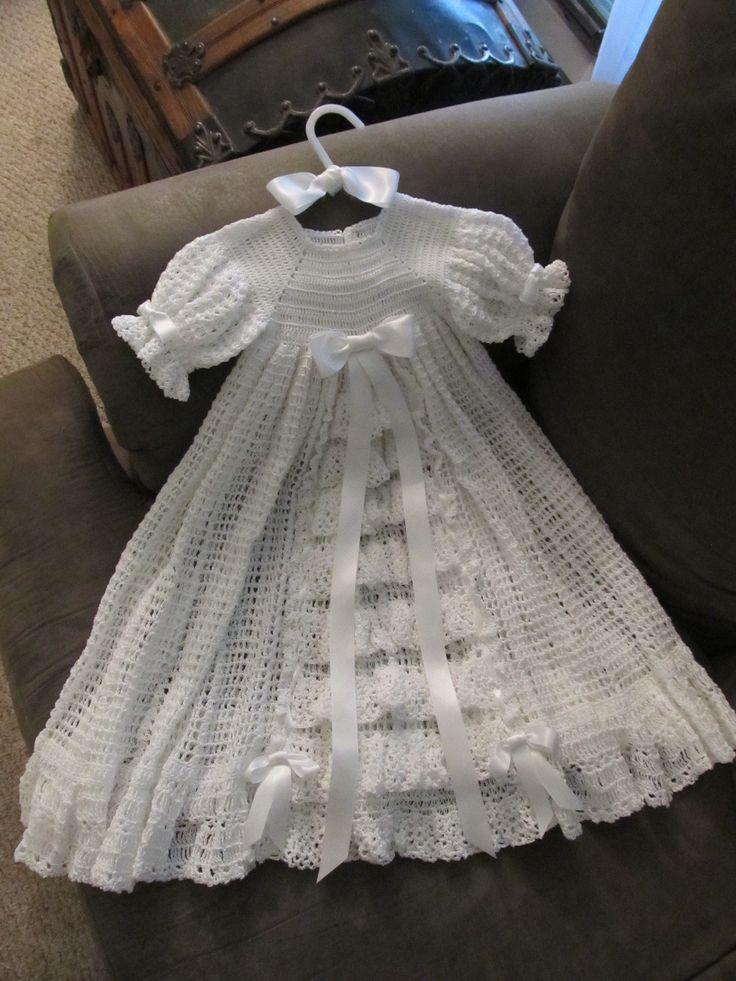 Victorian style crocheted Baptismal dress.....original design by Luv2crochet4u