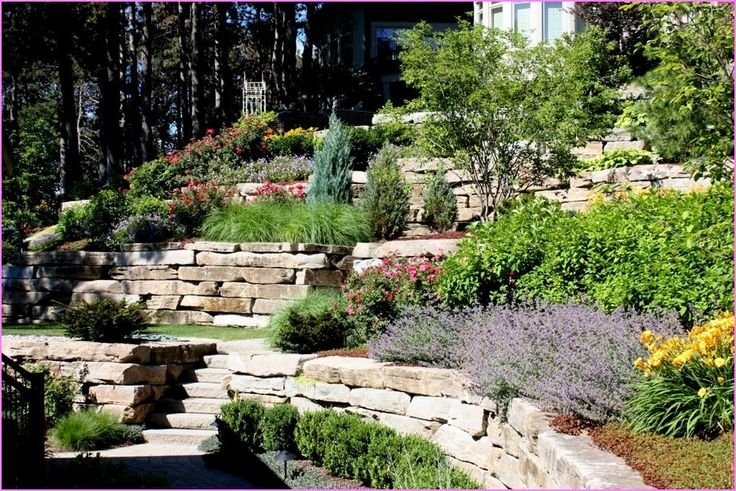 1000 images about outside spaces on pinterest for Small sloping garden designs