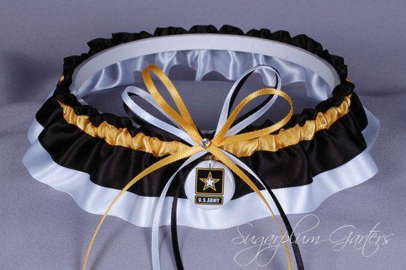 United States Army Wedding Garter on Etsy, $31.99