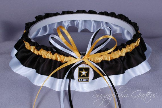 United States Army Wedding Garter on Etsy, $31.99
