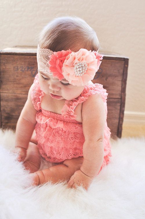 Hey, I found this really awesome Etsy listing at https://www.etsy.com/listing/219618485/shabby-chic-coral-peach-lace-girls