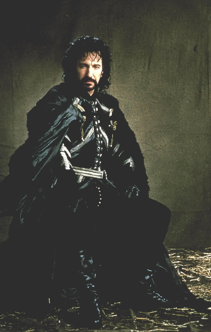 Alan Rickman as George, Sheriff Of Nottingham in the 1991 Robin Hood: Prince of Thieves film.