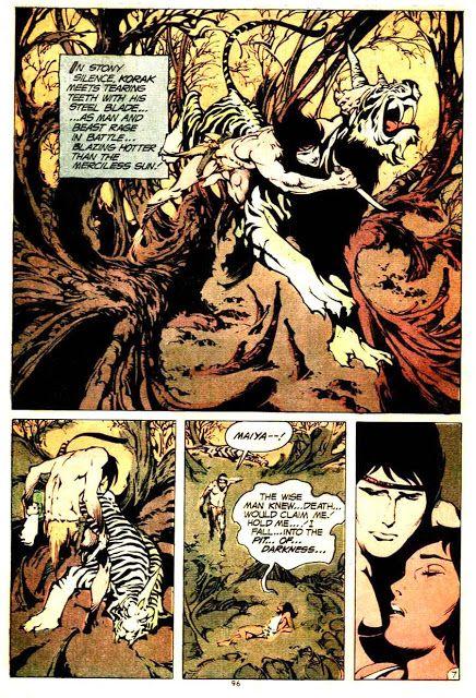 Tarzan v1 #232 dc comic book Korak page art by Alex Nino