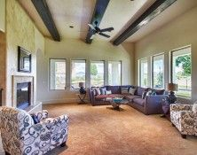 The heritage room.  The natural light coming from two angles gives a feeling of openness and invitation.  The beams are lined up to draw us out to the view beyond.  #Boise #Idaho, homes for sale