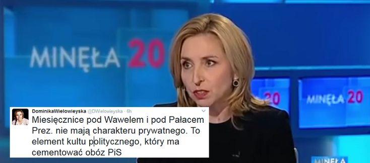 """Dziennikarka Wyborczej twierdzi, że miesięcznice w Warszawie i Krakowie: """"To element kultu politycznego, który ma cementować obóz PiS""""."""