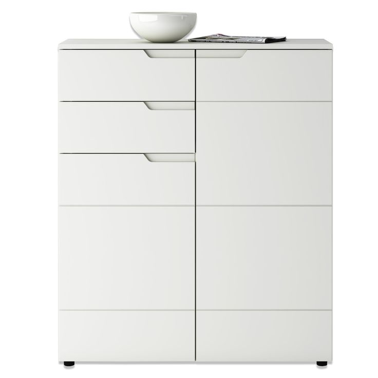 Kommode HILTON - weiß Hochglanz - 100x120 cm