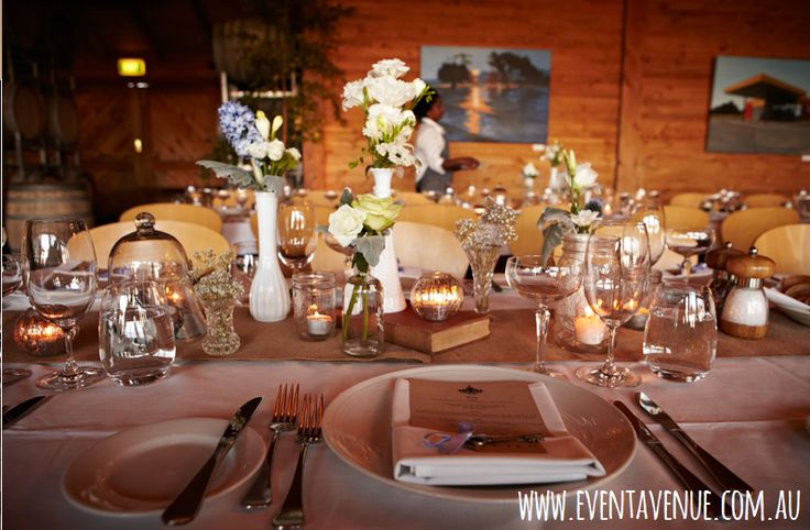 Beautiful vintage table centerpieces and decorations,