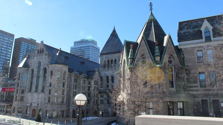 Beautiful slate roofs at McGill University in Montreal.