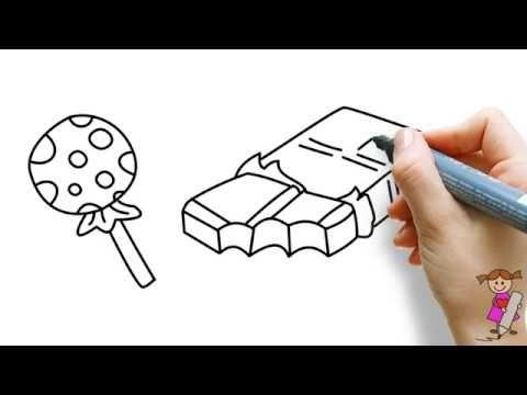 Halloween Tekeningen Maken.Leer Om Halloween Snoep Te Tekenen Voor Kinderen Youtube