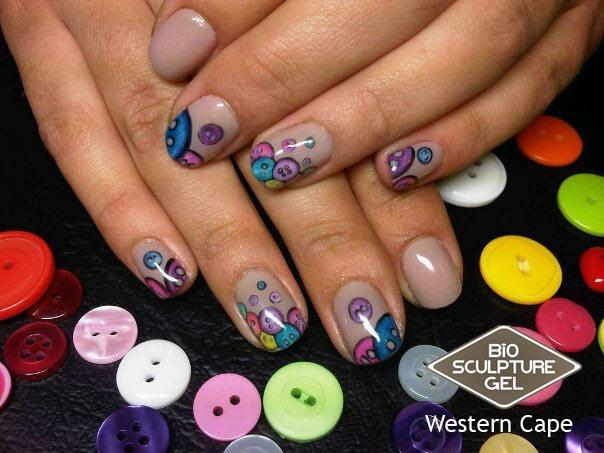 Bio Sculpture Button nails