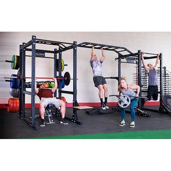 Body-Solid SPR1000 Double Commercial Extended Power Rack Package  SPR1000DBBACK - Two Extended Back Racks with Monkey Bars