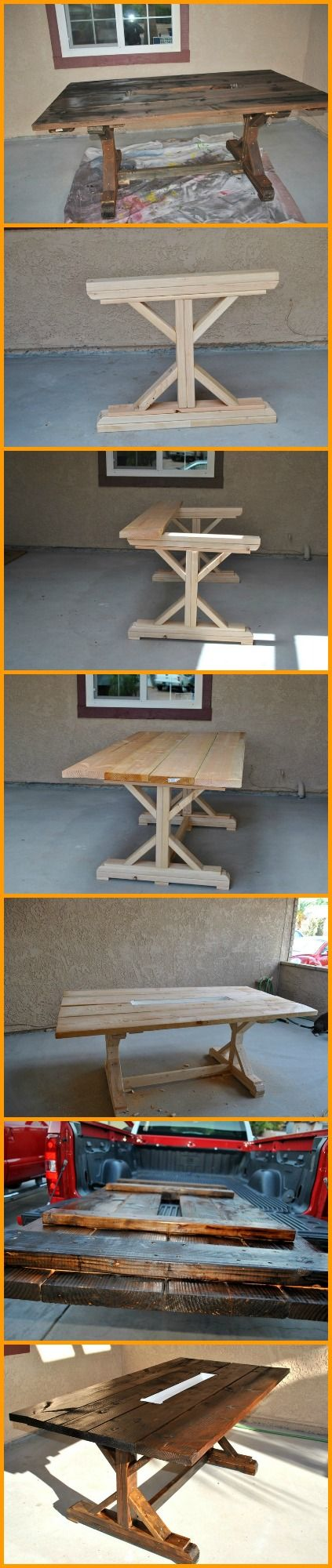 This rustic looking farm table is perfect for outdoor parties in your yard, and…
