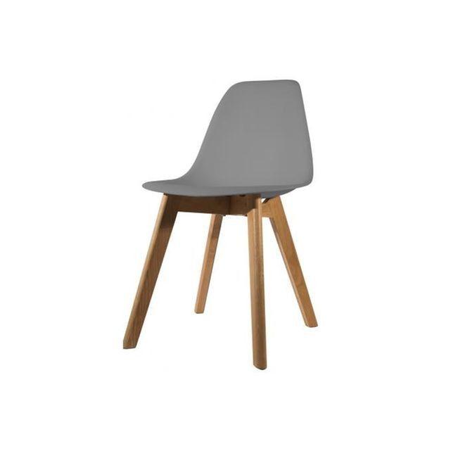 declikdeco chaise scandinave coque grise fjord la redoute - Chaise Grise Scandinave