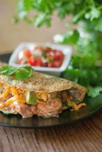 Paleo Satay Avocado Prawn Omelette - The Primal Desire