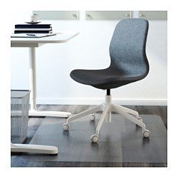 IKEA - LÅNGFJÄLL, Sedia da ufficio, Gunnared blu, bianco, , Una sedia da ufficio ergonomica, con linee morbide, cura dei dettagli e pratico meccanismo di regolazione nascosto sotto il sedile, per valorizzare il design.Le rotelle di sicurezza hanno un meccanismo di bloccaggio, sensibile alla pressione, che tiene ferma la sedia quando ti alzi e si sblocca automaticamente quando ti siedi.Il meccanismo d'inclinazione è facile da regolare, con una brugola, per adattarlo al tuo peso e ...