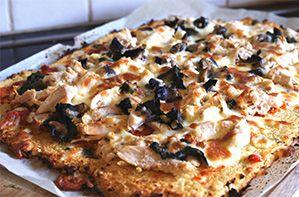 Cauliflower Crust Healthy Pizza | Kim Beach #glutenfree www.kimbeach.com
