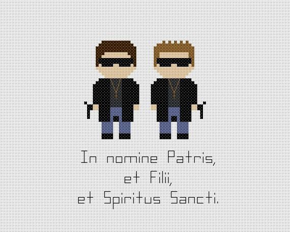 The Boondock Saints Quote Cross Stitch Pattern by GeekyStitches, $4.00