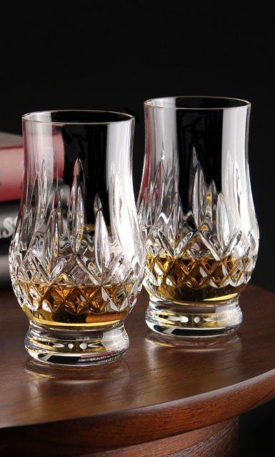 Waterford Lismore Whiskey Tasting Footed Tumbler, Pair