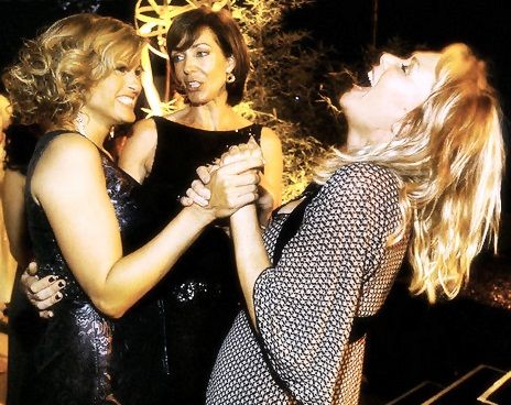 Mariska Hargitay, Allison Janney, and Jean Smart; black dress