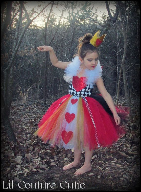 Queen of Hearts Tutu Dress / Alice in by LilCoutureCutie on Etsy, $65.00