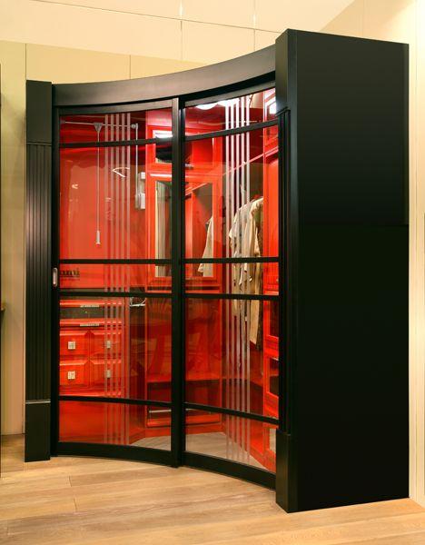 гардеробные Радиусная гардеробная Red