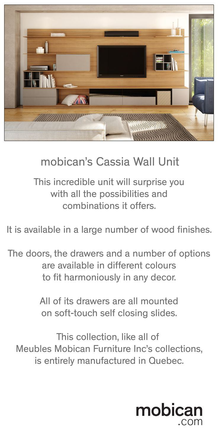 Mobicanu0027s Cassia Wall Unit Is A Stunning Piece Of Furniture. Its Numerous  Combinations Of Colours And Wood Finishes Will Allow You To Create Your Uu2026