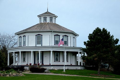 An octagon house south of mayville in tuscola county it for Octagon homes