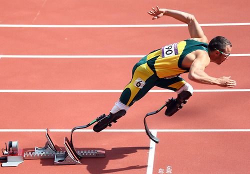 Oscar Pistorius of South Africa competes in the Men's 400m Round 1 Heats on Day 8 of the London 2012 Olympic Games at Olympic Stadium on August 4, 2012 in London, England.    Photo by: Paul Gilham/Getty Images