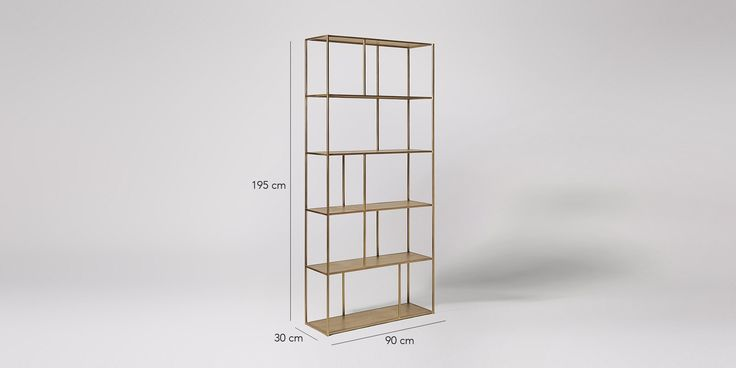 Swoon Editions Shelving unit, industrial style in brass - £349