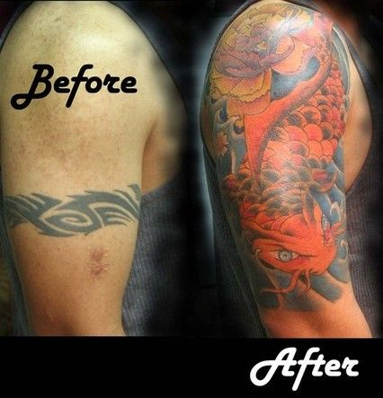 tribal armband cover up tattoos | Tribal Tattoo Cover Up Ideas