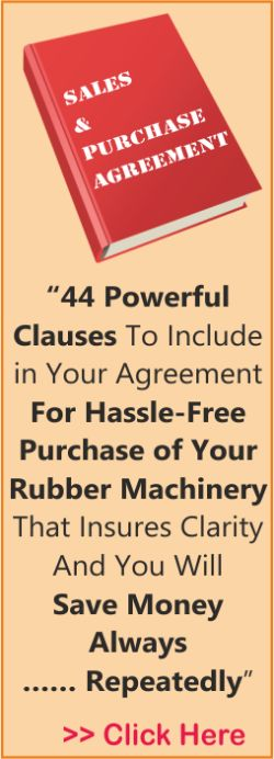 Rubber Machinery Purchase And Sale Agreement  Skills  Training
