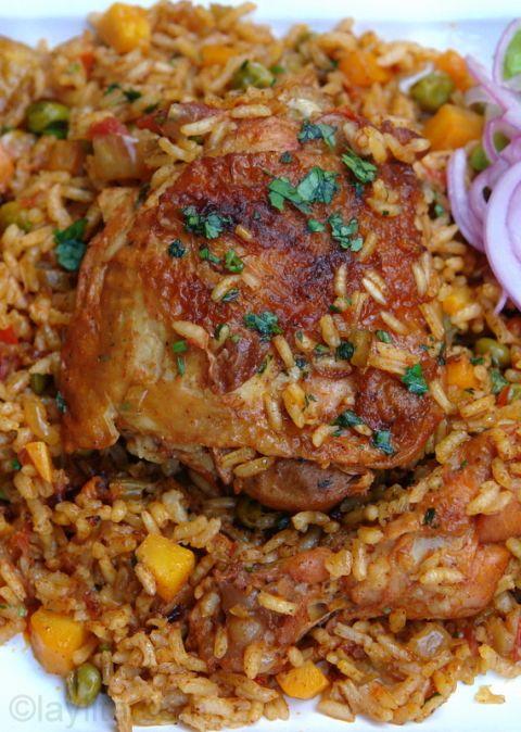 Chicken rice (Arroz con pollo)