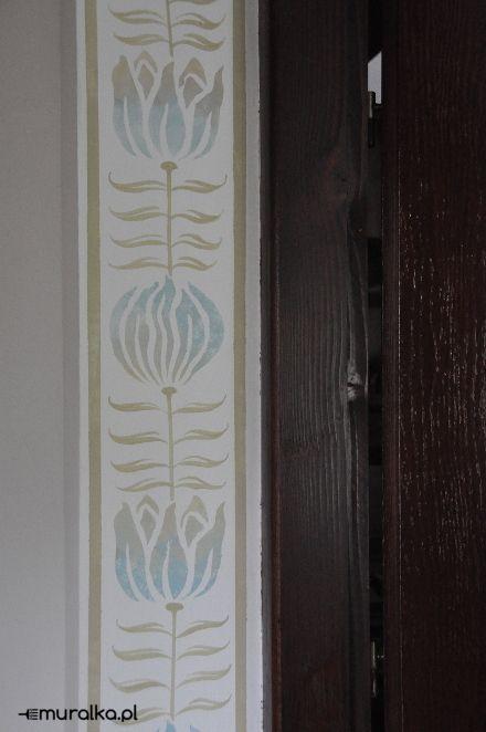 Ornament z szablonu – muralka.pl