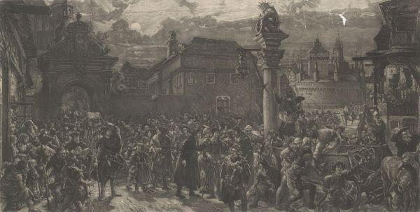 Wyjście żaków z Krakowa - Jan Matejko