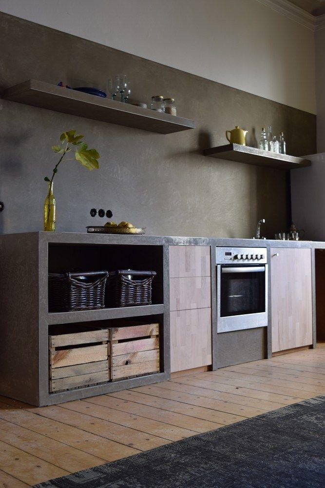 Küche selber gebaut und verputzt