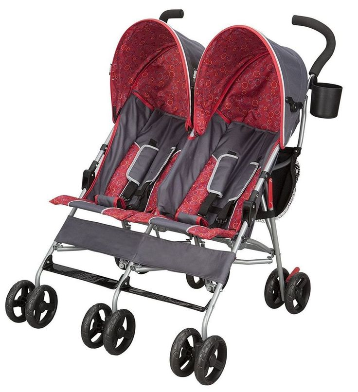 Baby Stroller For Twins Two Kids Double Buggy Light Folding Canopy Storage Bags #DeltaChildren