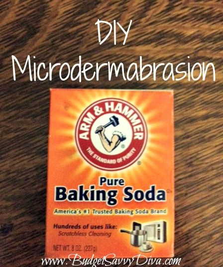 Want the effects of a microdermabrasion without the ridiculous prices? Here's how:  Add together three parts baking soda and one part water.  Mix until a paste is created.  Apply in a circular motion.  Rinse.