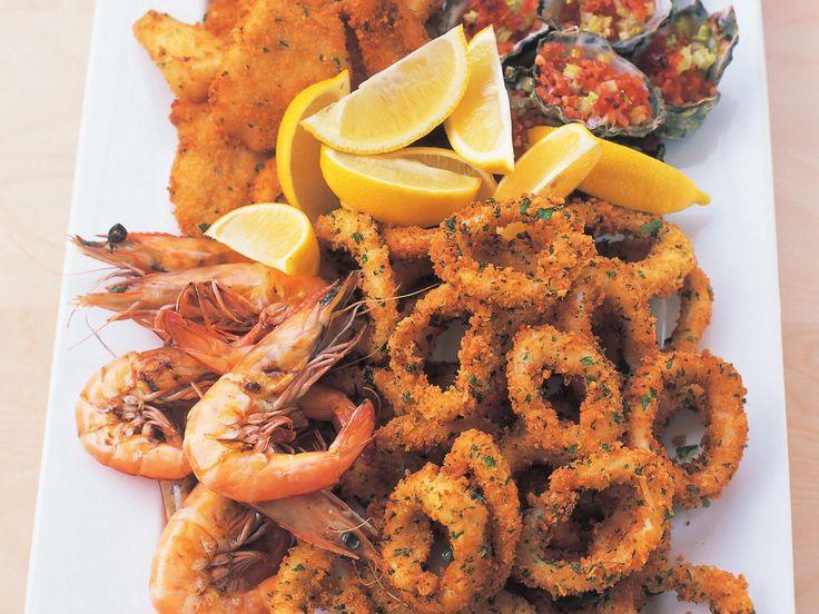 Hot seafood platter