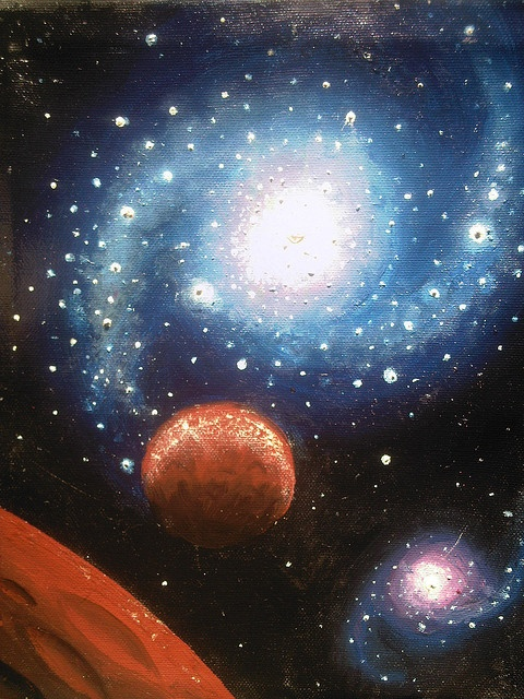 how to make a galaxy painting