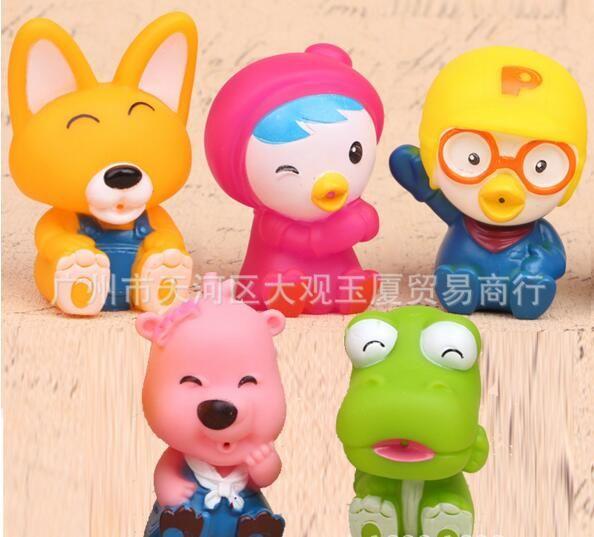 Free DHL/EMS 20sets/lot Korea Pororo Little Penguin Pororo Petty Crong Loopy Fox Eddy soft pvc figure toys Gifts