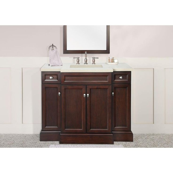 Foremost Teagen 42 In Vanity In Dark Espresso With Engineered Stone Vanity Top In Beige Home