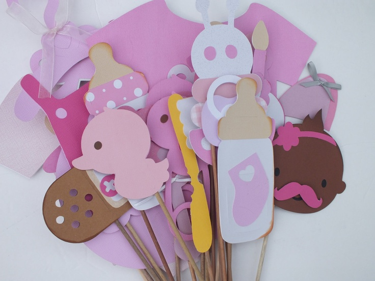 pink baby shower photo booth props clearance photo booth props baby