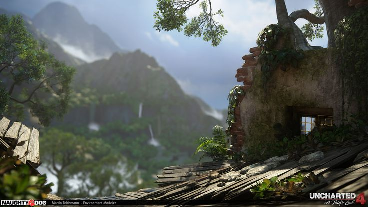 nathan drake, gamedev, game development, naughty dog, uncharter, uncharted 4, playstation 4, ps4, nathan drake, game industry, environment art, environments, games