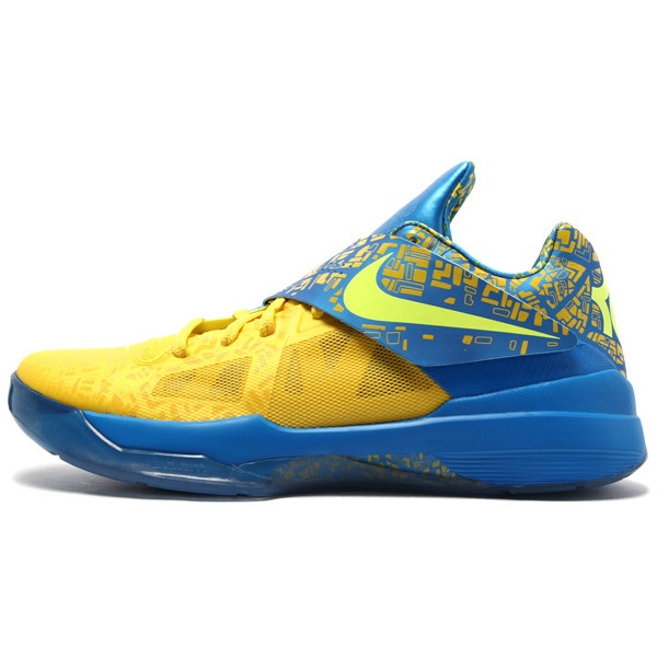 Buy Kevin Durant shoes cheap in 2012 KD IV Scoring Title Tour Yellow.