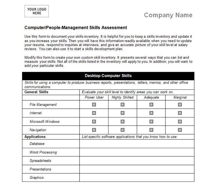 Job Skills Checklist List of skills, Management skills