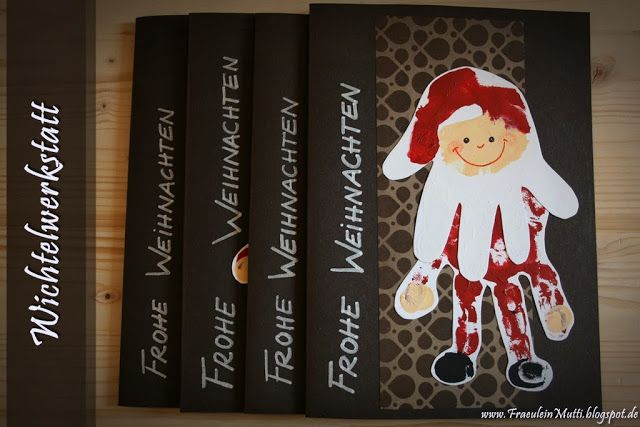 Weihnachtsmann aus Handabdrücken