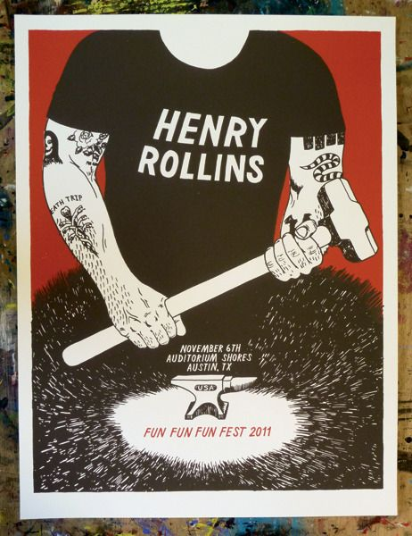 Henry Rollins FFF Fest Poster - Drug Factory Press